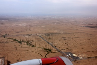Flying into Aqaba from Amman