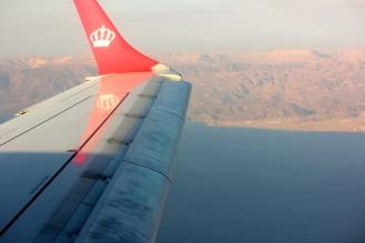 Royal Jordanian flight from Amman to Aqaba